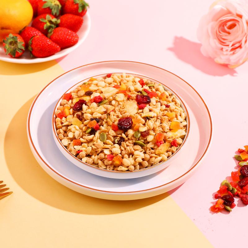 润涵优品水果谷物燕麦片即食营养早餐干吃牛奶冲饮混合叶麦片800g