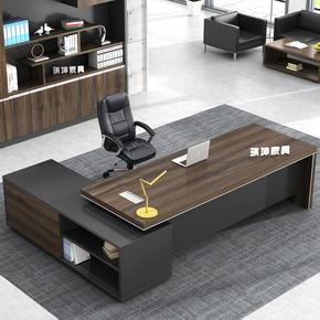 大班台办公桌办公家具单人电脑桌板式总裁经理桌老板桌椅组合新款