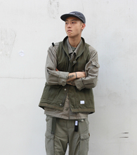 NOWHERE 18SS DESCENDANT Yu Wenle-tong Military Workwear Multi-bag Functional Tactical Male Armor