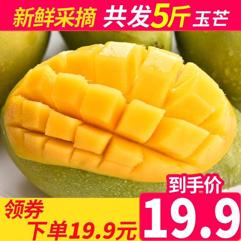 越南进口青芒果新鲜水果批发玉芒青皮香芒果非贵妃芒果 5斤装