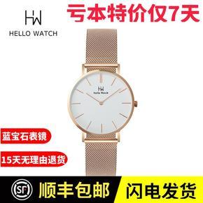 2018新款正品男士情侣北欧时尚简约超薄钢带石英手表DW同款40mm