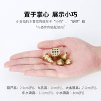Asked about pure copper incense inserts frame small gourd incense inserted nine holes line incense small drops incense seat bracket incense burner