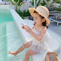 Cookie home baby clothes 2019 summer new children's baby swimwear lace sling split skirt swimsuit