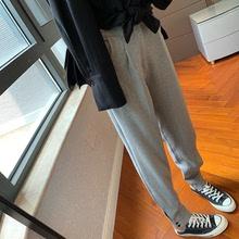 中高腰休闲裤 老爹裤 19FW 纹理面料超显瘦宽松萝卜西装 二多多家