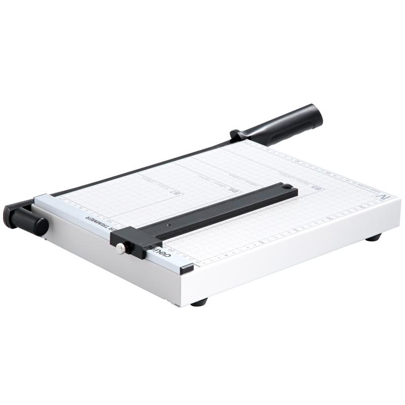 得力切纸机8014办公手动切纸器钢质卡片切纸刀名片裁纸刀
