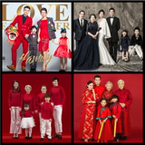 New photo studio pregnant women theme clothing Chinese retro family wear family photo photography family portrait photo costume