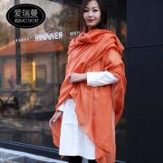 超大纯色围巾女春夏秋冬四季用优质棉麻丝巾空调披肩