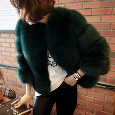 2018新款冬海宁皮草外套女短款仿狐狸毛时尚显瘦年轻款水貂毛毛衣