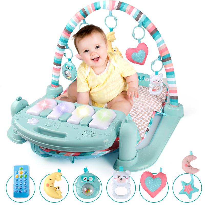 新生婴幼儿童 音乐健身架脚踏钢琴玩具礼盒益智宝宝0-6-12个月1岁