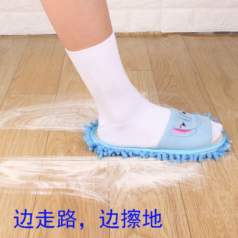 包邮拖地拖鞋可拆洗懒人拖家居地板清洁拖鞋儿童懒人擦地拖鞋夏款
