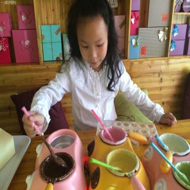 烘培 DIY巧克力融化锅/熔炉/火锅巧克力喷泉机 送工具