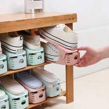 可放置鞋子收纳神器鞋架双层简易家庭专用一体式鞋托架加厚