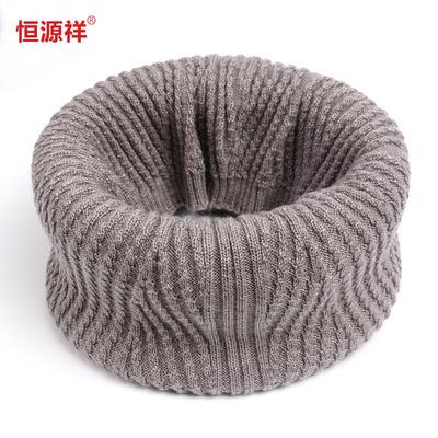恒源祥 针织韩版男女通用羊毛围脖女冬情侣脖套冬季套头围巾百搭