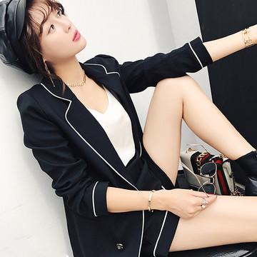 18春季韩国英伦风气质淑女韩版时尚名媛小香风休闲西装短裤套装女