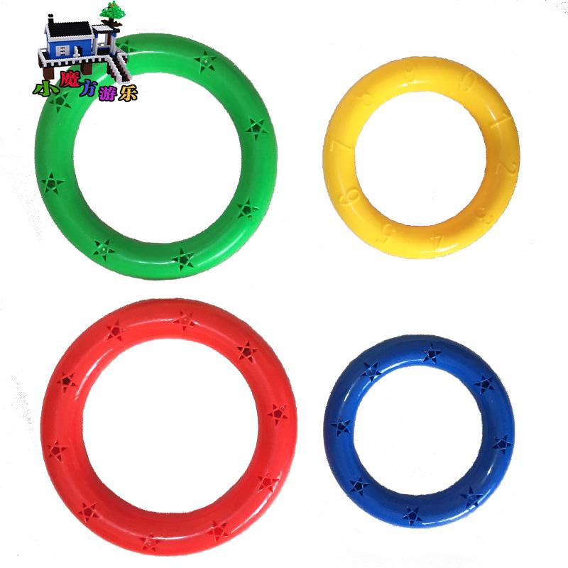 幼儿园晨操器械体操环轻体操道具有声舞蹈手环儿童哑铃玩具手摇铃