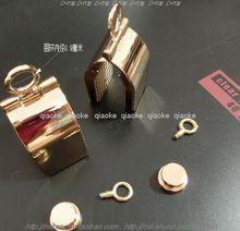 高档箱包皮具五金配件浅金色包挂环链条包用压铸折页吊环10元/套
