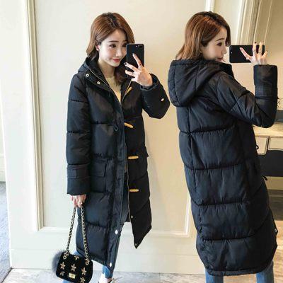 蓝蚕冬季外套冬装女2018新款过膝中长款棉服棉袄加厚韩版学生