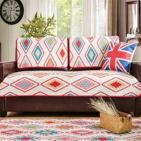【断码清仓】简约现代布艺沙发垫巾套罩四季通用防滑坐垫双面全包