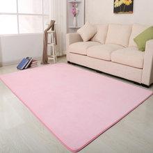 珊瑚绒客厅卧室地毯女生房间粉色公少女定制长方形满铺可爱地垫