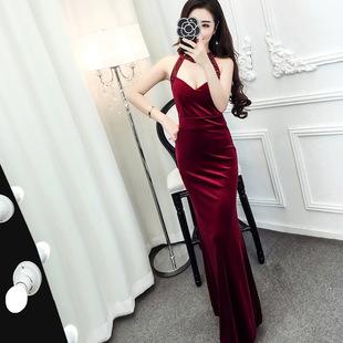 晚礼服长款修身显瘦气质淑女连衣裙2017新款夜场酒吧性感夜店女装