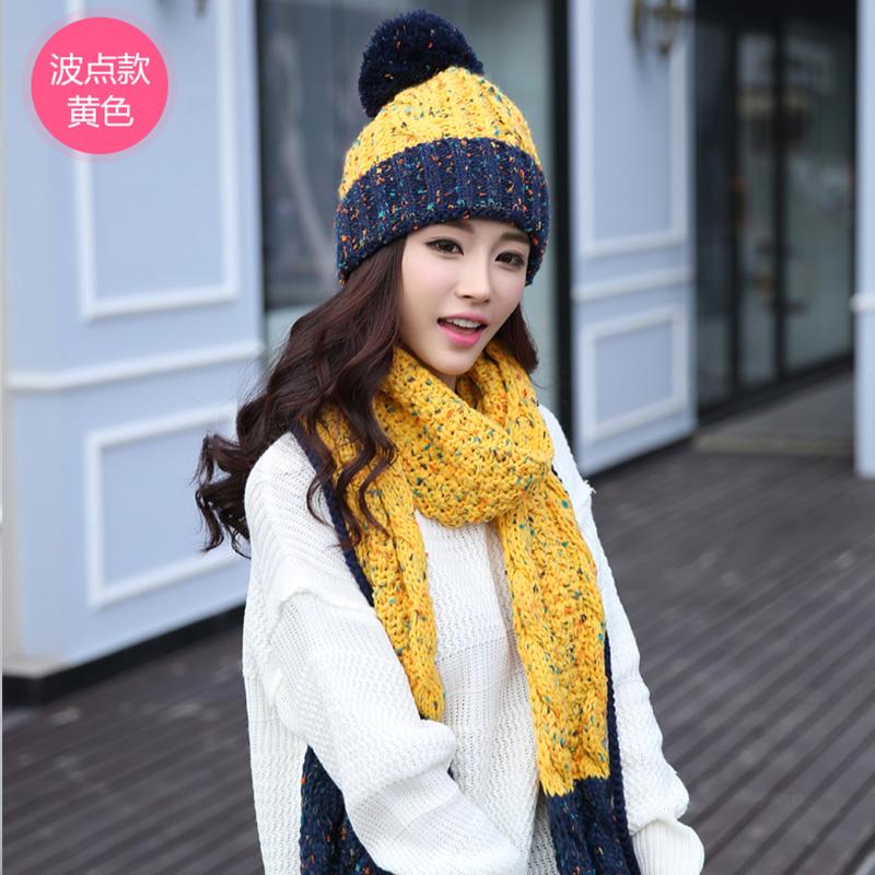 帽子围巾手套三件套女学生冬天韩版元旦春节生日礼物可爱甜美礼盒