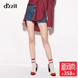 d'zzit地素 18专柜新款 简约显瘦水洗牛仔短裤热裤 3F1R1021S