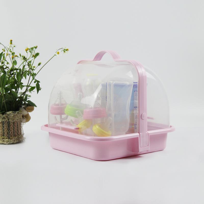 奶瓶收纳箱 小号 便携式 迷你奶瓶架 晾干架 防尘 抗菌沥水 带盖