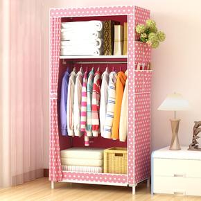 加厚牛津布防潮衣柜实木放被子柜储物柜子简易挂衣柜大号放棉被橱