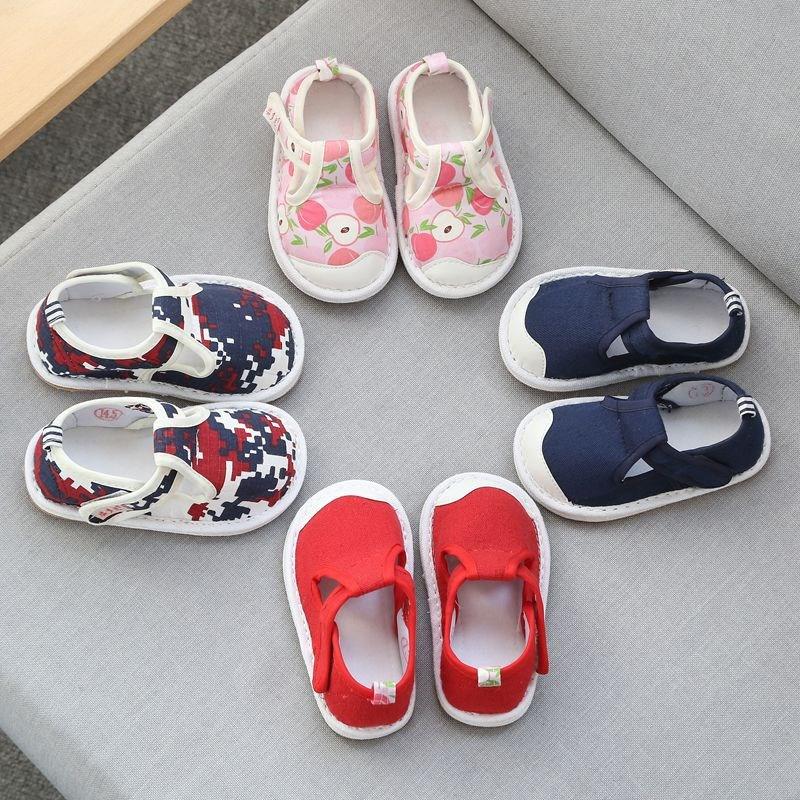 儿童布鞋女1-2-3岁宝宝千层底学步单鞋男透气春秋老北京防滑软底