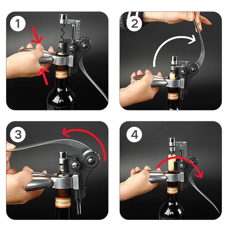 开红酒开瓶器 工具开葡萄酒的开酒器家用开红酒的手动起子来瓶器