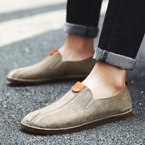 新款低帮系带平底四季好穿纯色男士帆布鞋休闲鞋布鞋男鞋2017包邮