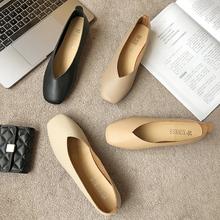 个性 豆豆鞋 界贝网红女鞋 时尚 2019春季新款 百搭舒适单鞋 韩版 奶奶鞋