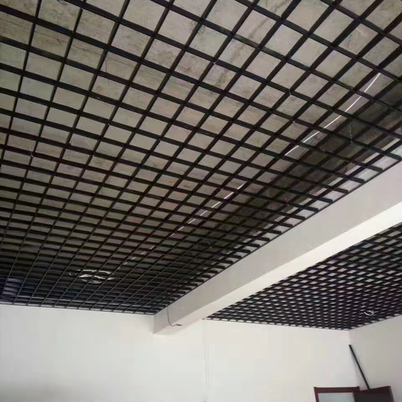 格栅黑色天花网格吊顶pvc格栅吊顶铝格栅吊顶铁格栅塑料