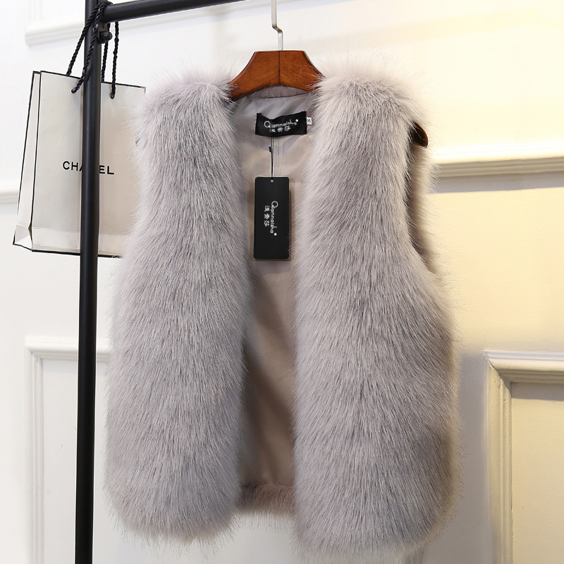 韩版狐狸毛女外套