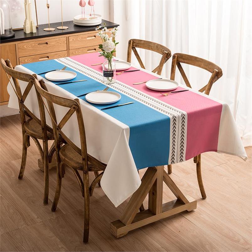野餐新款布艺清新图案日式客厅桌子方便田园风餐桌布家用家庭欧式