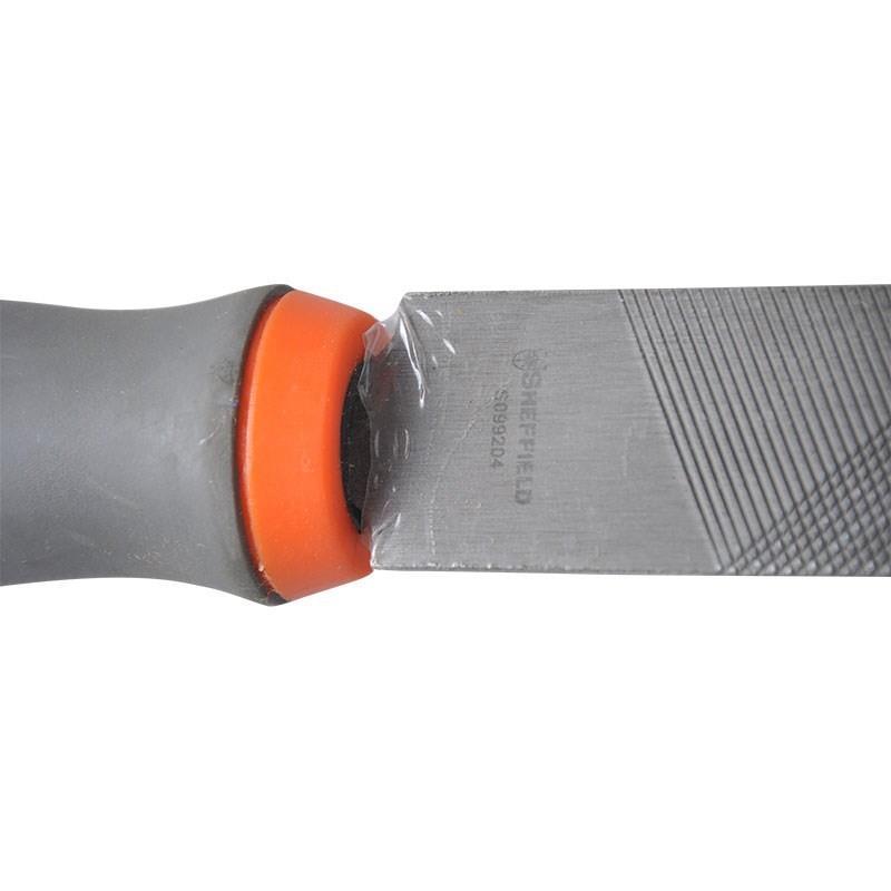 18年新款工具粗齿半圆锉中齿细齿6寸8寸10寸12寸铁锉刀塑胶柄半圆