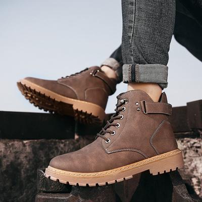 男款秋冬季高帮男靴韩版潮流百搭工装英伦风短靴子马丁靴男士军靴