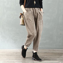 Old Moon Butterfly Spring and Autumn New Pure Corduroy Tight Pants