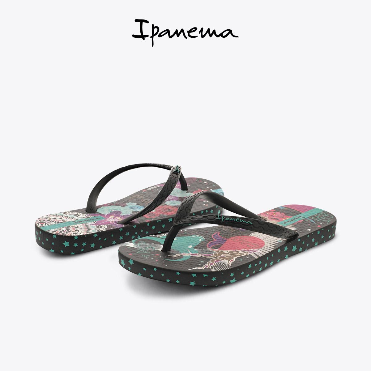 ipanema 夏季新款星象V系列印花夹趾成人儿童女亲子鞋 人字拖潮
