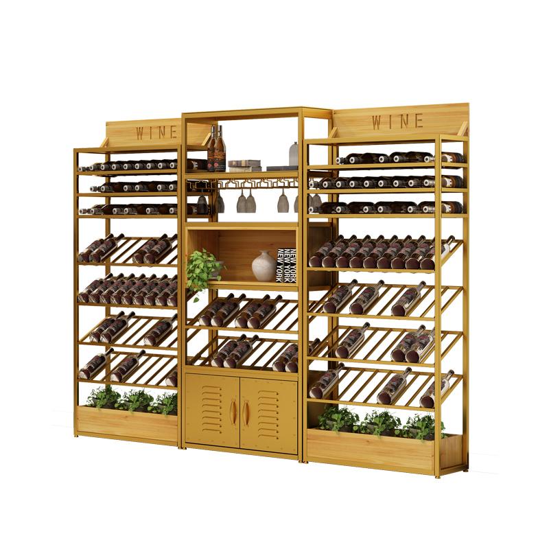 正巨欧式铁艺酒架酒吧落地酒柜葡萄酒红酒收纳展示架置物架酒杯架