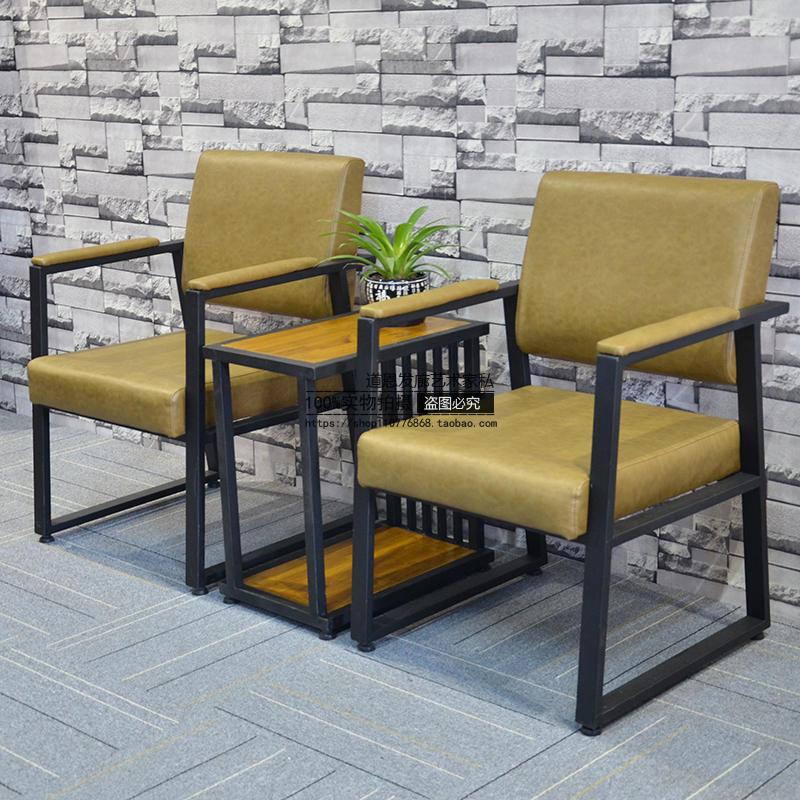 发廊专用美发店椅子美容理发椅剪发凳升降放倒包邮复古铁艺洗头床