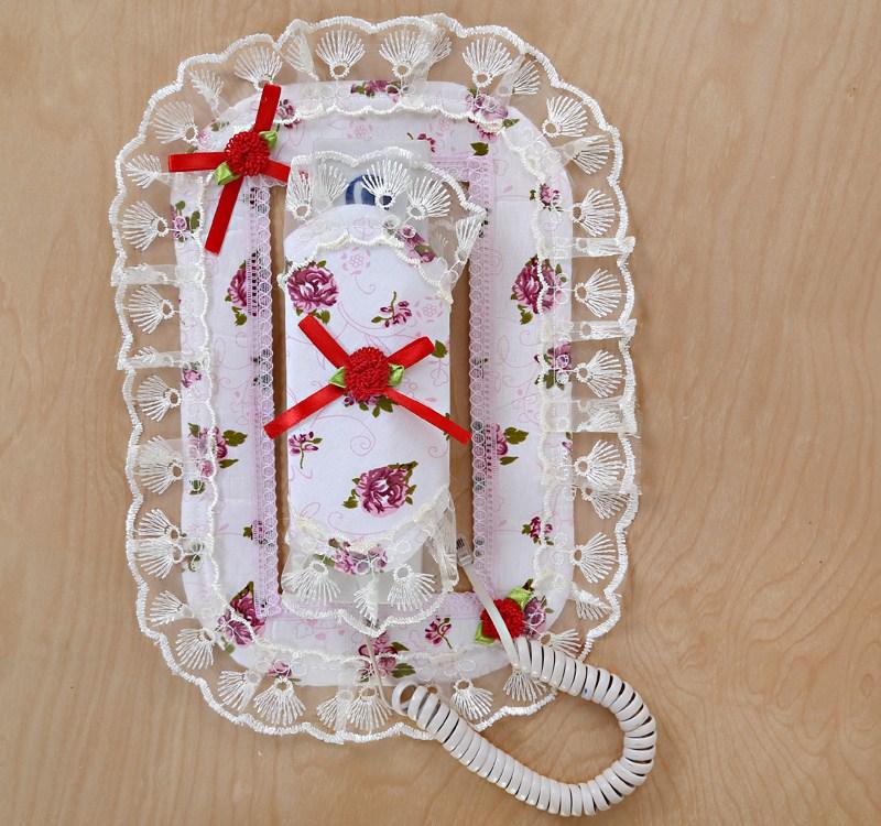 电话套防尘罩布艺电话装饰罩门铃套可视门铃楼宇对讲机电话保护罩