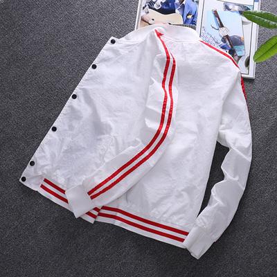 男士外套时尚休闲夏季薄款夹克修身运动学生潮流男孩青少年上衣服