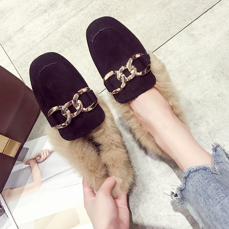 女鞋冬单鞋低跟加绒