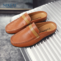 高端定制尼克西男士包头凉拖鞋夏季新款时尚韩版懒人透气半拖鞋