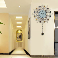 挂钟客厅欧式钟表现代简约创意个性家用静音时钟装饰挂表石英钟大