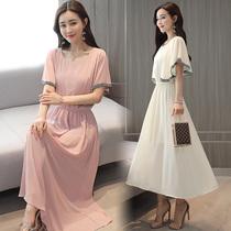 高个子夏季连衣裙子女装夏装女生欧美修身长裙适合大个子180穿的