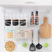 艾米格厨房18件套网格多功能置物架厨房调味收纳架客厅卧室壁挂架