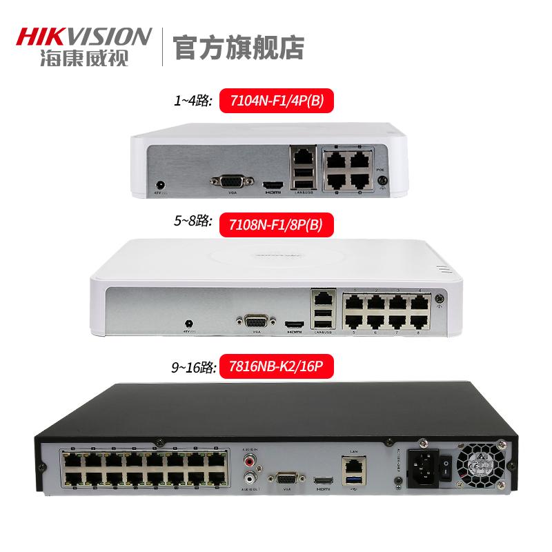 海康威视监控器高清套装家用4路poe全套设备网络室外摄像头商用