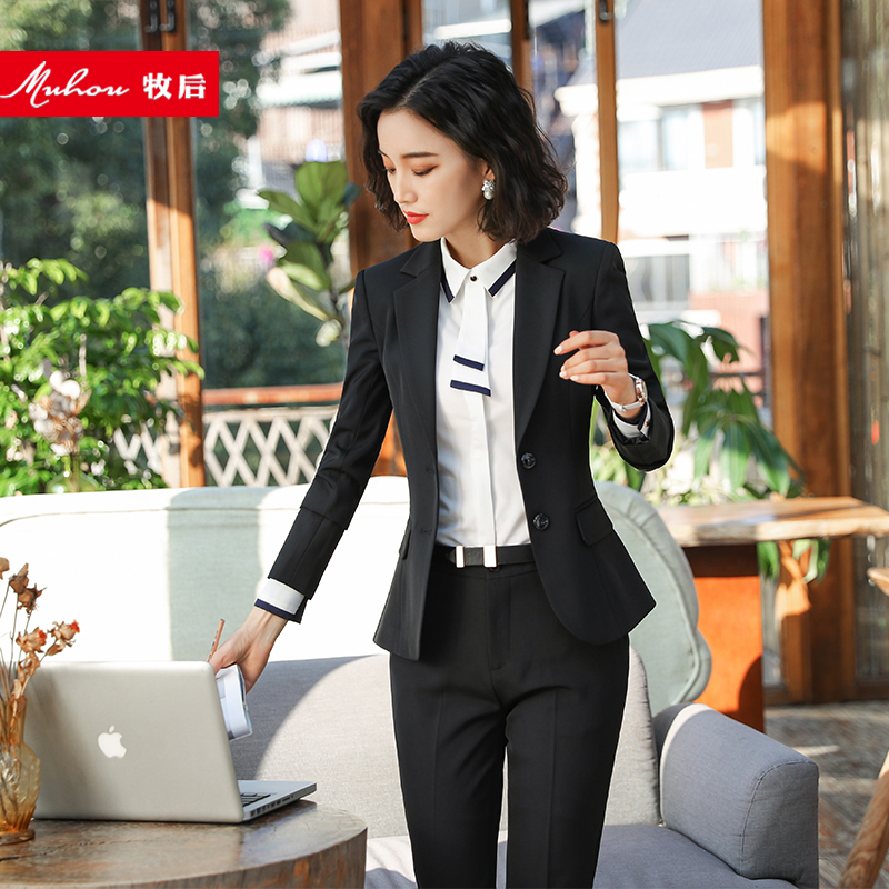 Workwear Women's Suit Office Suit Korean Slim casual interview dress women